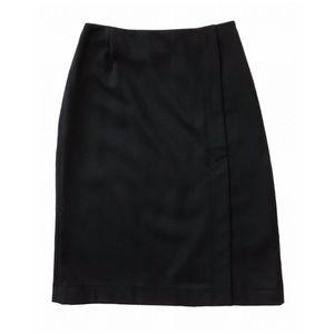 J. Crew Black Wool Pencil Skirt 8 Dressy Career